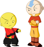 Omi and Aang by juanito316ss