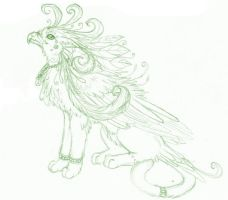 Spring Meadow Gryphon Sketch by SaphiraRose