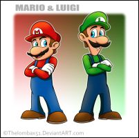 Mario and Luigi by RatchetMario