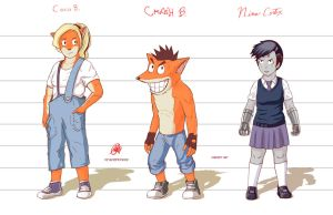Crash Bandicoot -  Concept Art Characters Desing by AtLeastimalive
