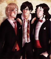 Marauders at the Yule Ball by PetiteLilen