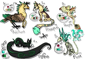 Species / Creatures For Sale - Set 1 - OPEN by Griffkat