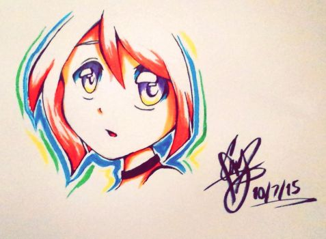 Ritsu brush markers by Damianne-Violet