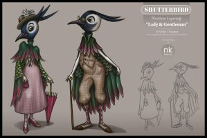 Lapwings Character Design by Nekranea