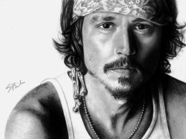 Johnny Depp by sabrinabarich