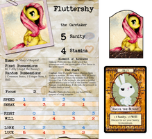 Arkham Horror Character Sheet - Fluttershy by DeftCrow