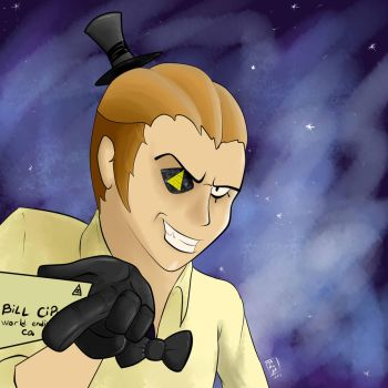 Requested : Bill Cipher human version by TakuyArts