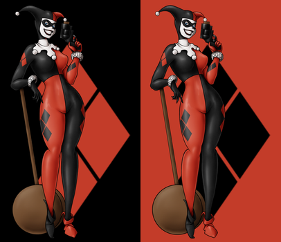 Harley Quinn tattoo doodle by AdzStitch