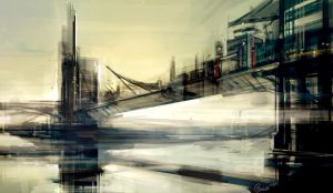 City Sketch 1 - Bridge City by Benlo