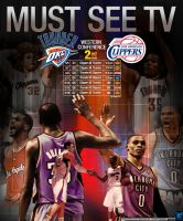 Thunder vs Clippers 2014 Playoffs 2nd Round by YaDig
