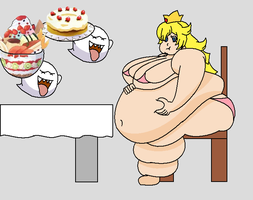 fat princess peach by tarumax