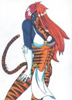 Mystique- Change of Face- Tigra by RobertMacQuarrie1