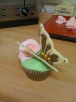 Butterfly cup cake by AdaBerry