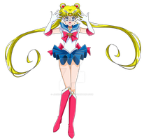 SAILOR MOON MANGA -  Sailor Moon Make Up (Vector) by JackoWcastillo