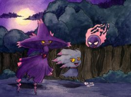 Ghost Pokemon no.1 by MableTheRabbid