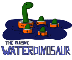 The elusive Waterdinosaur by HappyPixelKitten