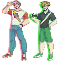 Red and Blue/Green [fanart] by FroggyLovesCoffee