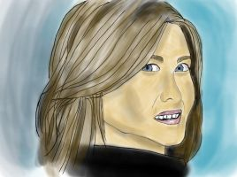 Jennifer Aniston - Freehand Sketch Practice #3 by wrongpixel