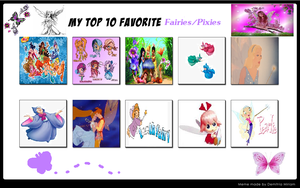 My Top 10 Favorite Fairies and Pixies by PrincessKatieForever