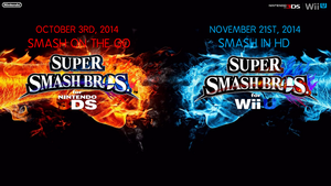 Super Smash Bros. Wii U/3DS Logo Wallpaper #1 by TheWolfBunny