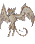 Winged Cat for Ronekimew by Saku-Senpai