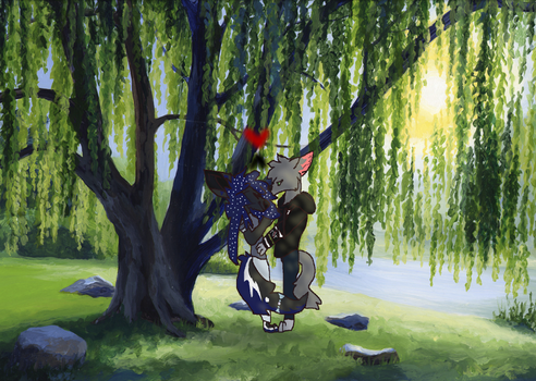 Down By The Willow :.SHIP ART.: by Darkmooncat2084