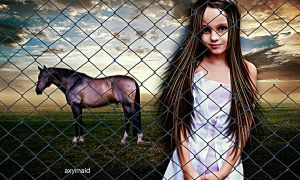 Behind The Fence by axymaid