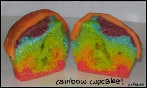 RAINBOW CUPCAKES by xxFEExx