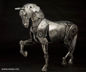 Articulated Metal Horse Walking 2 by Andrew-Chase