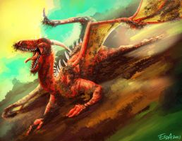 Muddy Dragon by FablePaint