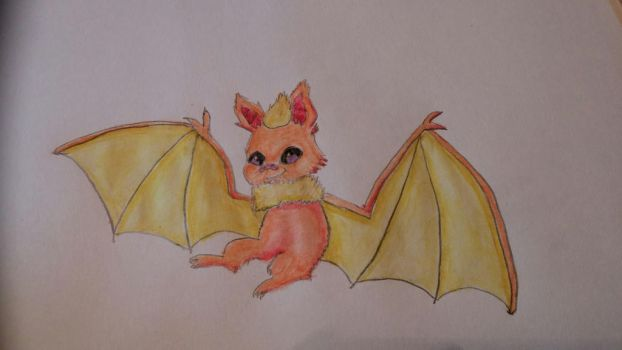 Fire Bat for Drawoween by Uminohoshi