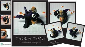 Trick or Treat Dragons by lizzarddesigns