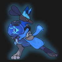 Lucario for mmpppgreenpearl13 by DragonzFire95