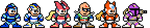 Megaman series - NES style by chaoticdarkness