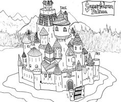 Lineart: Sommerfahren Palace by Luprand