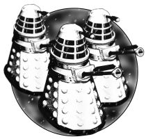 Toy Daleks of yesterday by westleyjsmith