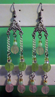 Pink - Green Chandeliers by BloodRed-Orchid