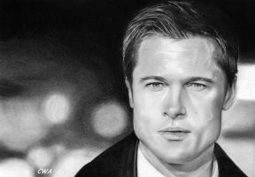 Brad Pitt by ChrisWoottonArt