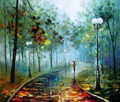 Fog Of Passion by Leonid Afremov by Leonidafremov