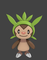 3D Animation test - Chespin by SuperAj3