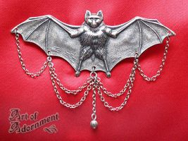 Gothic Bat Brooch by Valerian