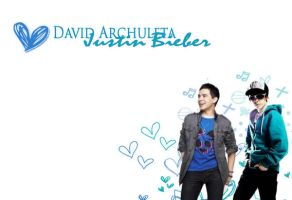 Justin bieber david archuleta by smileyarchie