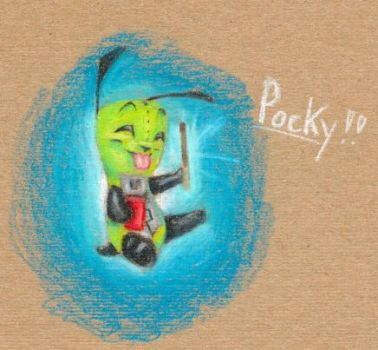 Gir with Pocky by tigrin