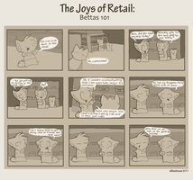 The Joys of Retail: Bettas 101 by TahkiBK