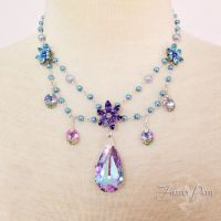 Twilight Blossom Necklace by Lillyxandra