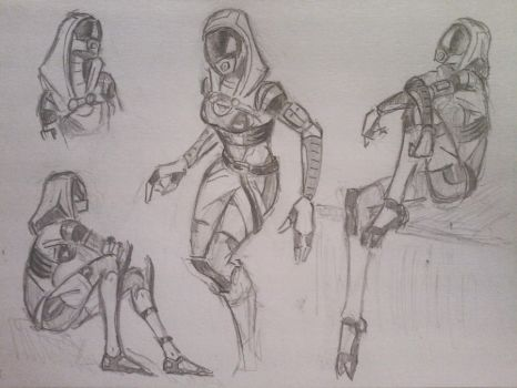 sketches Tali by spaceMAXmarine