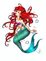 mermaid Ariel by 0Aqua-Mermaid0