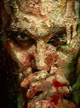 Selfportrait with toothache by nailone