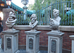 Ghost Busts in Queue at the Haunted Mansion by WDWParksGal-Stock