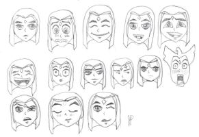 Many faces of Raven by jennasthings